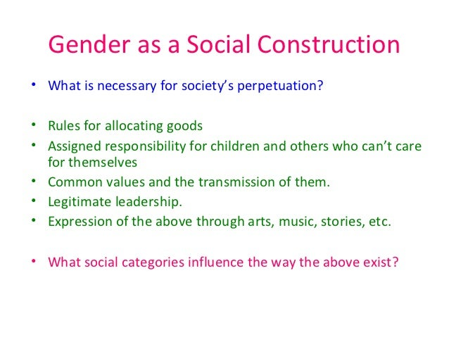 Social construction of sexual identity