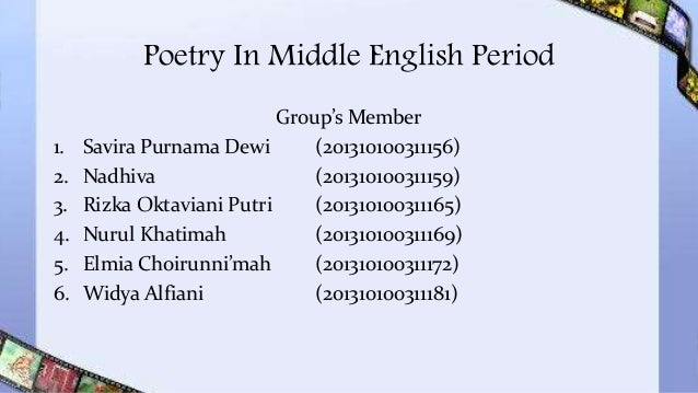 Translations Into Italian: Poetry In Middle English