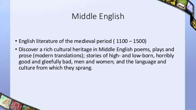 middle english period literature