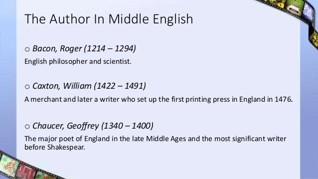 characteristics of middle english literature pdf