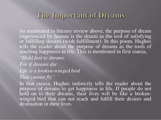 The importance of having dreams