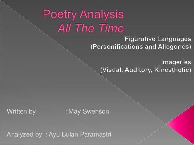 Written by : May Swenson Analyzed by : Ayu Bulan Paramastri