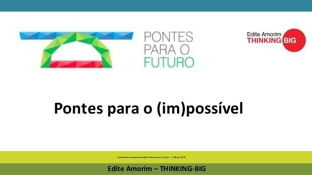 Conferência na Apresentação Pontes para o Futuro – 9 Março 2015 Edite Amorim – THINKING-BIG Pontes para o (im)possível