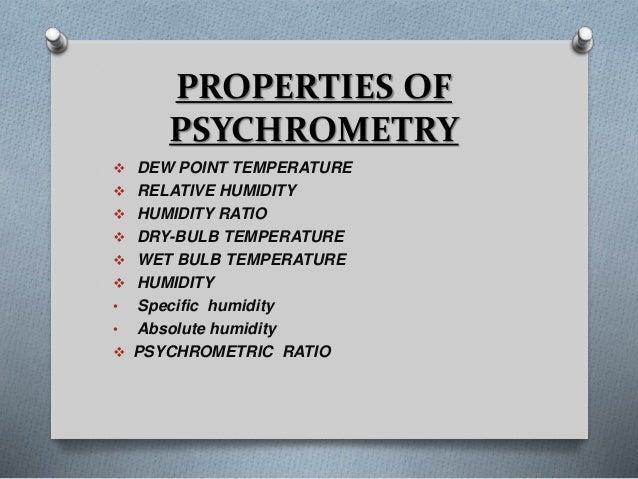 psychrometry 4 638 - Psychrometric Properties & Processes