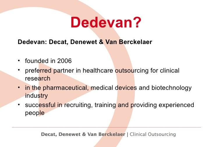 Working for Dedevan Slide 2