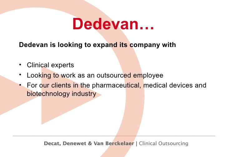 Working for Dedevan Slide 3