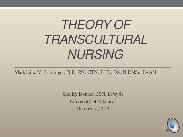 transcultural nursing its importance in nursing practice The course specific competences that students need to develop include the ability to use concepts and models of transcultural nursing in everyday clinical practice, the ability to perform evidence based nursing to achieve higher patient satisfaction and better outcomes, the ability critically to appraise their own values, beliefs and attitudes .