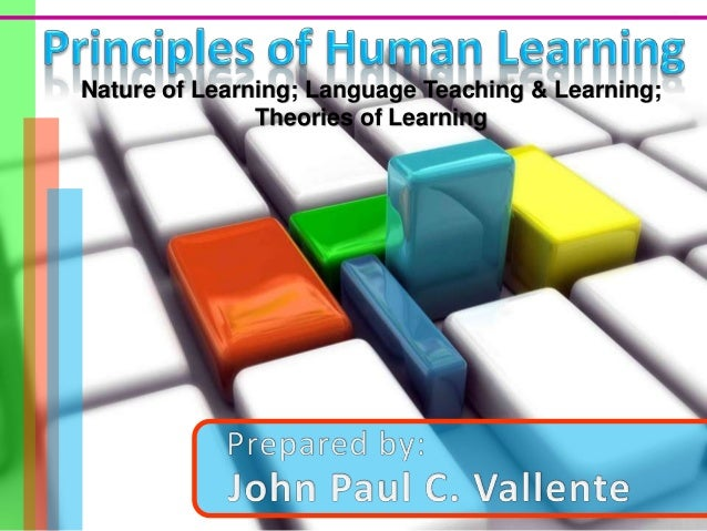 Nature of Learning; Language Teaching & Learning;               Theories of Learning