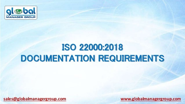 What Documentation required for ISO 22000:2018 Certification?