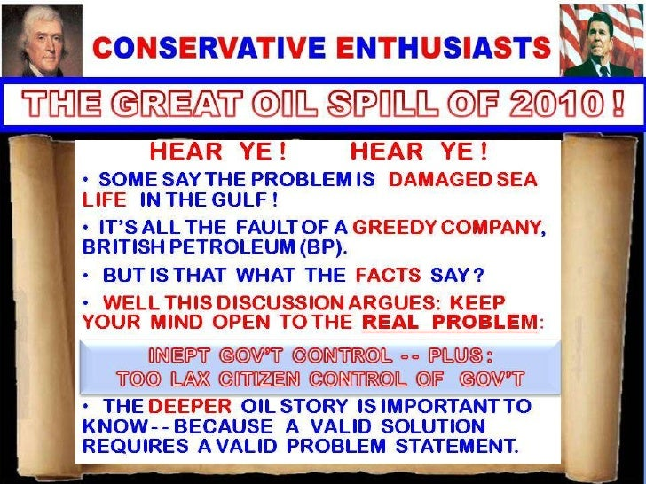 THE GREAT AMERICAN OIL SPILL OF 2010
