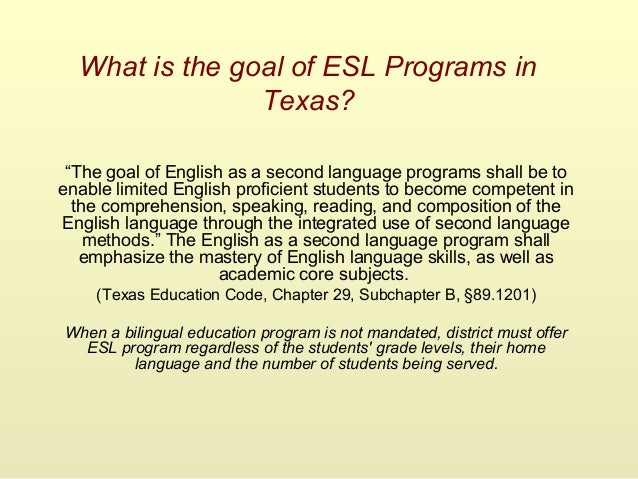 Return to Bilingual Education