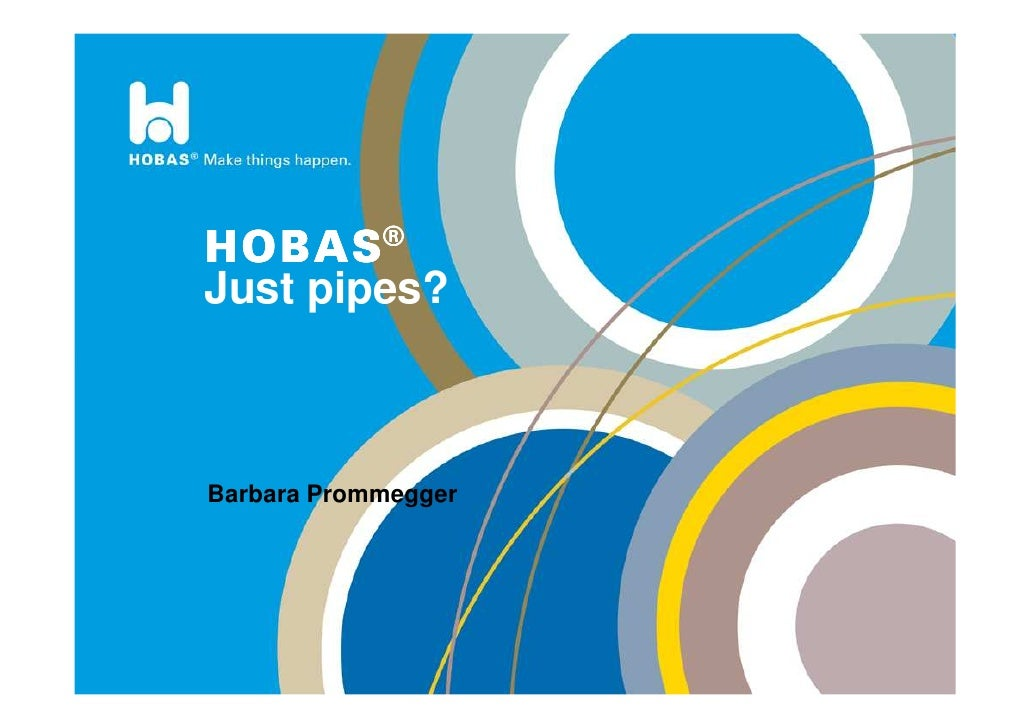 h Just pipes?    Barbara Prommegger