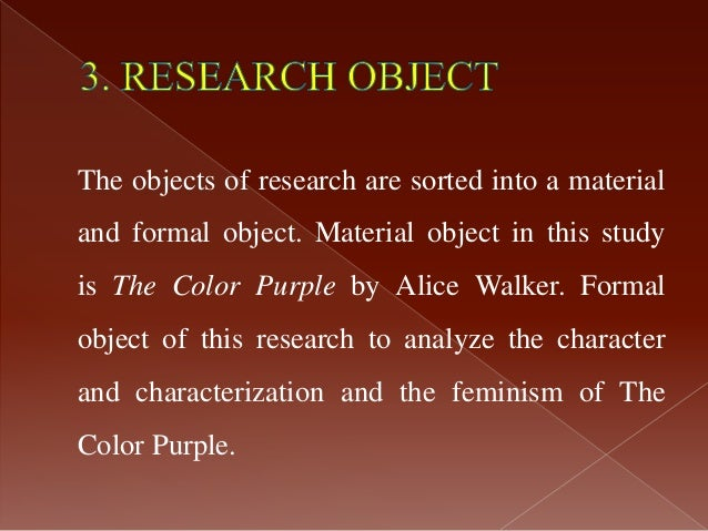 the color purple analysis The color purple by alice walker - letters 1-5 summary and analysis.