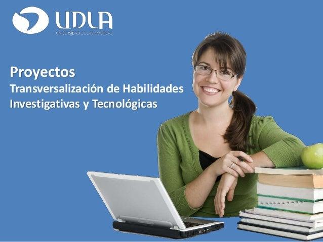 Proyectos Transversalización de Habilidades Investigativas y Tecnológicas