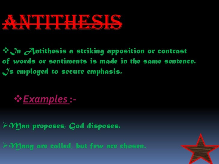 difference between antithesis and contrast What is the difference between anti thesis and paradox  contrast antithesis of prose and verse what is the difference between being anti.