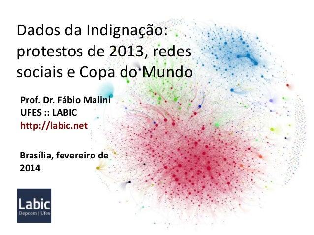Dados da Indignação: protestos de 2013, redes sociais e Copa do Mundo Prof. Dr. Fábio Malini UFES :: LABIC http://labic.ne...