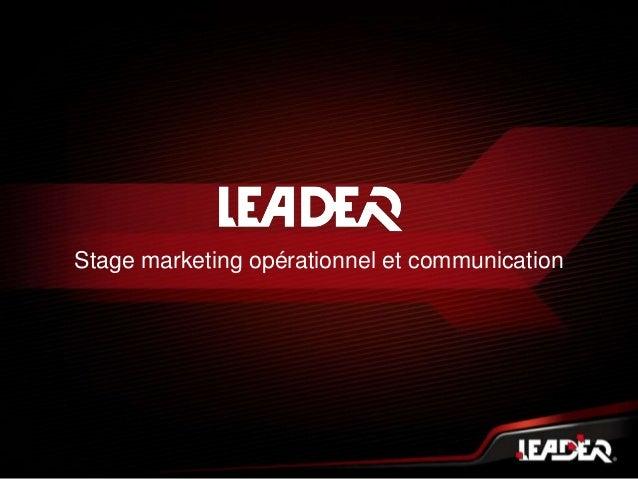 Stage marketing opérationnel et communication