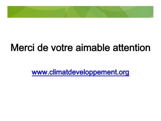 Présentation du RC&D sur le bilan de la COP21