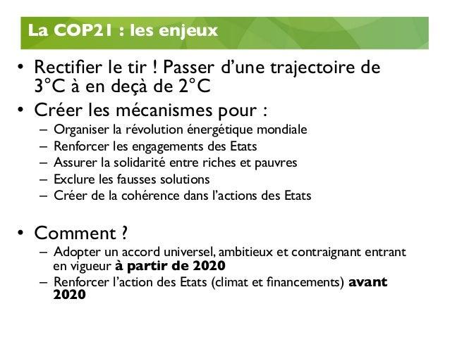 COP21 : Le bilan 03/03/2016