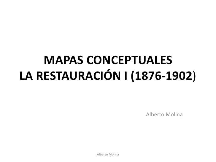 MAPAS CONCEPTUALESLA RESTAURACIÓN I (1876-1902)<br />Alberto Molina<br />Alberto Molina<br />