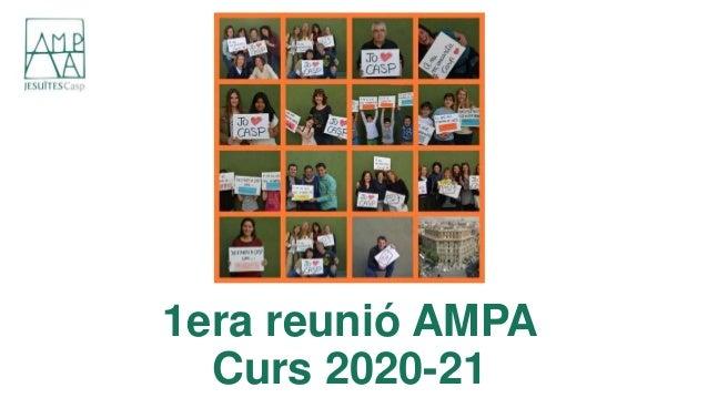 1era reunió AMPA Curs 2020-21