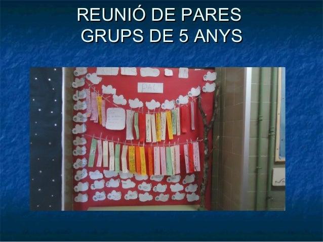 REUNIÓ DE PARESGRUPS DE 5 ANYS