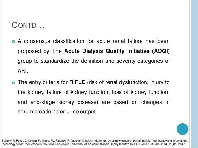 Acute Kidney Injury For Undergraduates