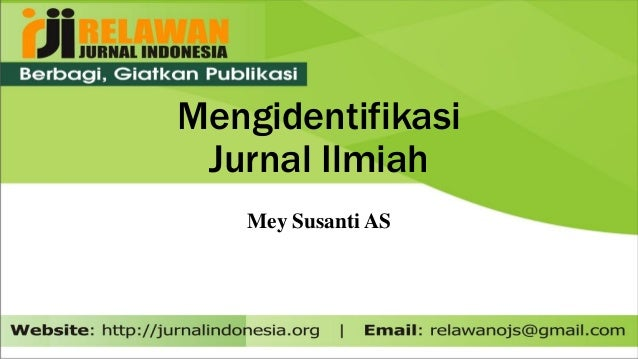 Mengidentifikasikan Jurnal Ilmiah Nasional Nasional Terakreditasi I