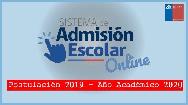 Postulación 2019 – Año Académico 2020