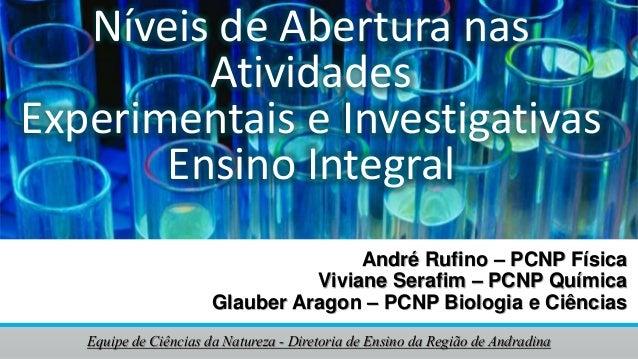 André Rufino – PCNP Física Viviane Serafim – PCNP Química Glauber Aragon – PCNP Biologia e Ciências Equipe de Ciências da ...