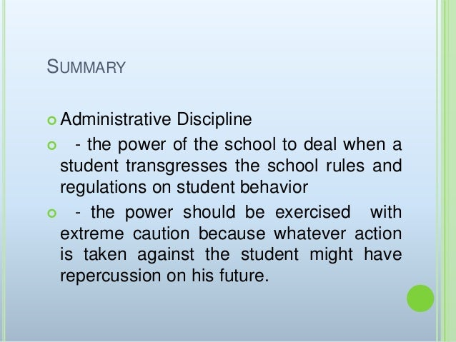 "philippine school discipline ""discipline of special education students"" by heidi konkler-goldsmith, esquire the discipline of special education students has caused tremendous confusion within the area of special education law among one of the most litigated issues in special education, the law regarding discipline has recently undergone many changes the individuals with disabilities education act (idea) places."