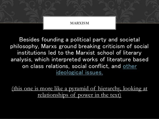Besides founding a political party and societal philosophy, Marxs ground breaking criticism of social institutions led to ...