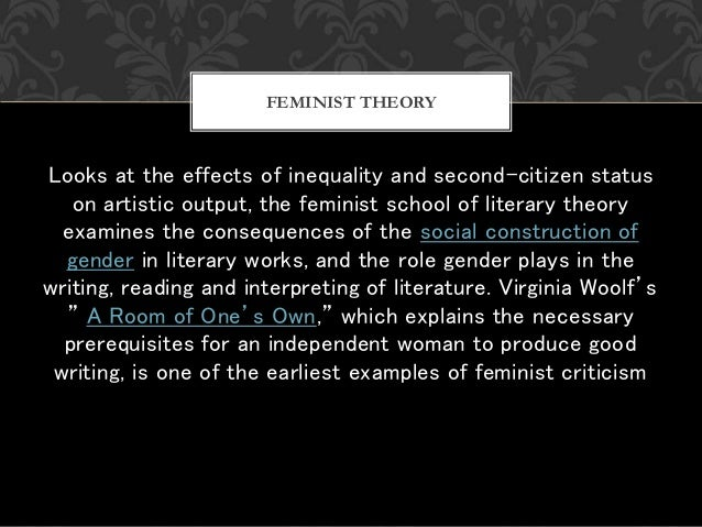 Looks at the effects of inequality and second-citizen status on artistic output, the feminist school of literary theory ex...