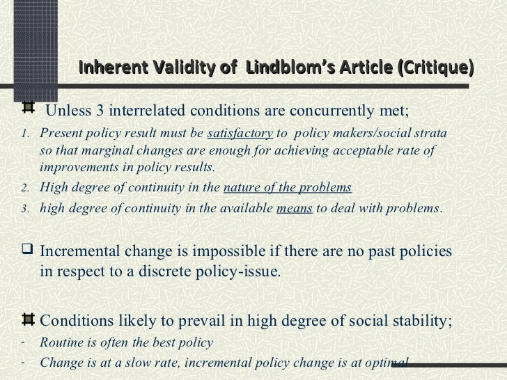 the science of muddling through Lindblom, charles e (1959), the science of 'muddling through' public administration review, 19, pp 79–88 lindblom charles e lindblom: yale faculty biography.