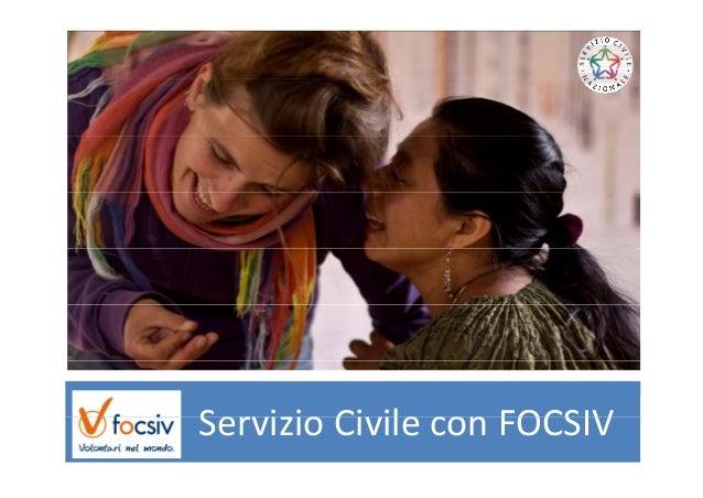 Servizio Civile con FOCSIVServizioCivileconFOCSIV