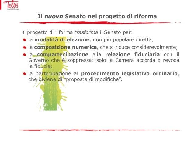 Riforma del senato e funzione legislativa dall attuale for Composizione del senato