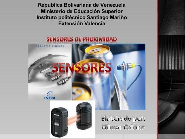 Republica Bolivariana de Venezuela Ministerio de Educación Superior Instituto politécnico Santiago Mariño Extensión Valenc...