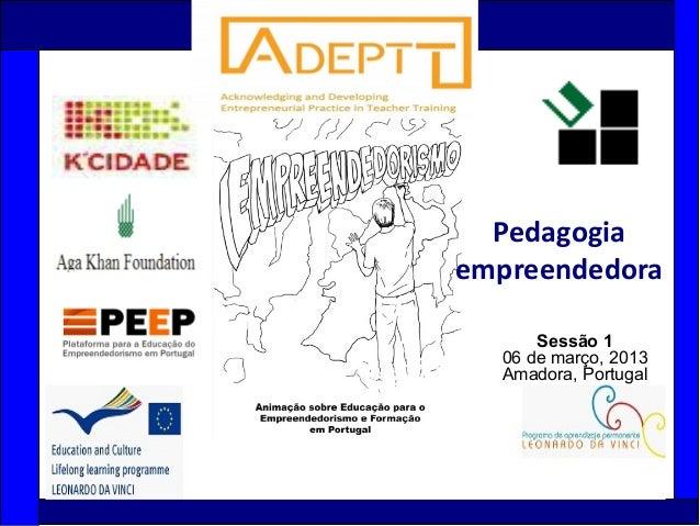 1Sessão 106 de março, 2013Amadora, PortugalPedagogiaempreendedora