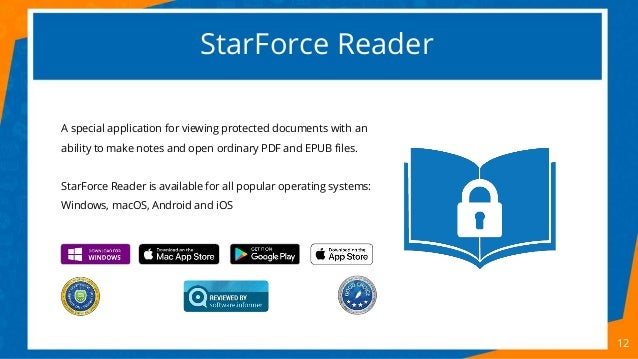 StarForce Reader 12 A special application for viewing protected documents with an ability to make notes and open ordinary ...
