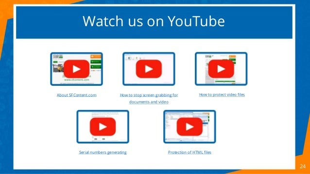 Watch us on YouTube 24 How to protect video filesHow to stop screen grabbing for documents and video Protection of HTML fi...