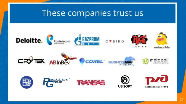 These companies trust us 27