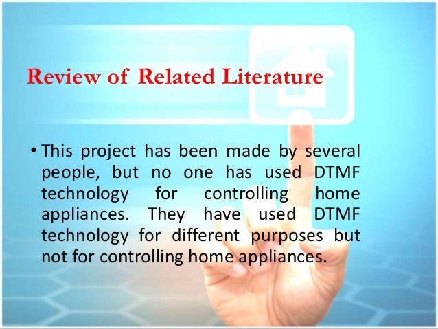 Literature review for home automation project.. children's homework helper