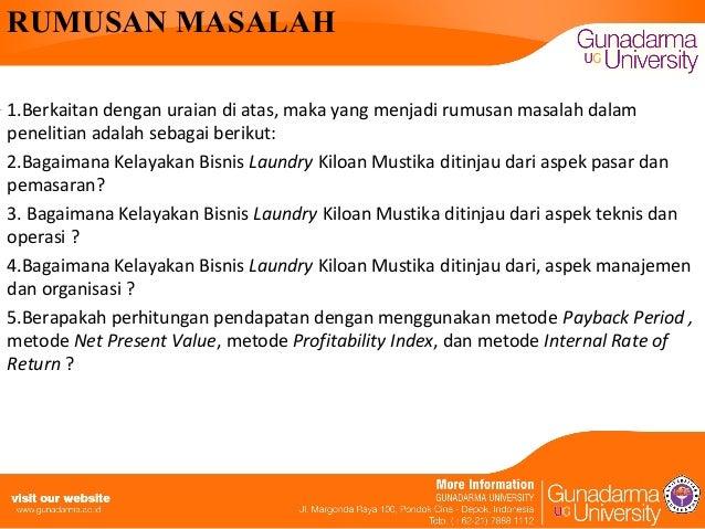 Makalah Studi Kelayakan Usaha Laundry