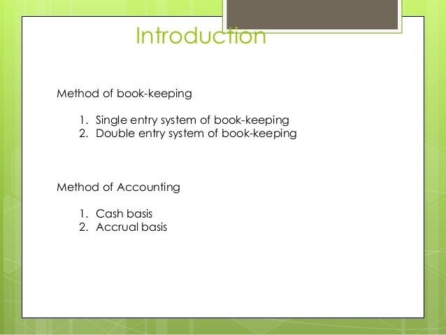 Accounting Book Entry
