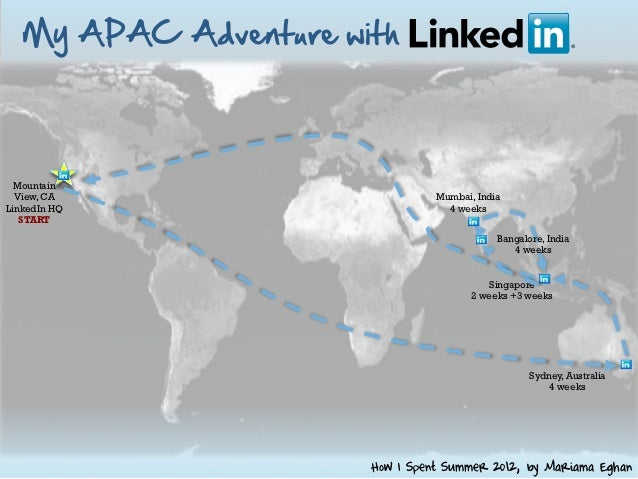 My  APAC  Adventure  with    Mountain  View, CA                           Mumbai, IndiaLinkedIn HQ                        ...