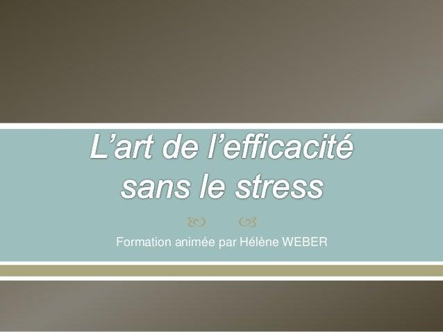  Formation animée par Hélène WEBER