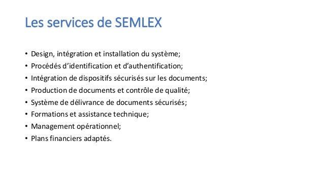 SEMLEX Slide 3