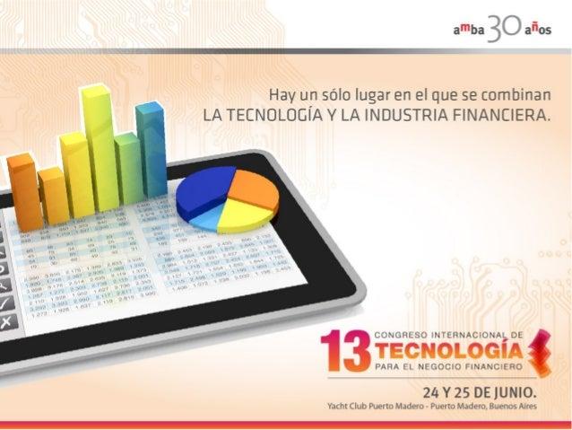 Sponsors 13º Congreso Internacional de Tecnología para el Negocio Financiero