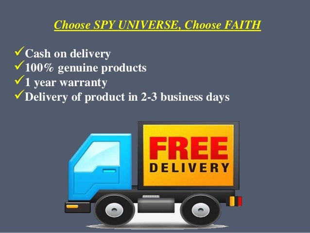 Choose SPY UNIVERSE, Choose FAITH Cash on delivery 100% genuine products 1 year warranty Delivery of product in 2-3 bu...