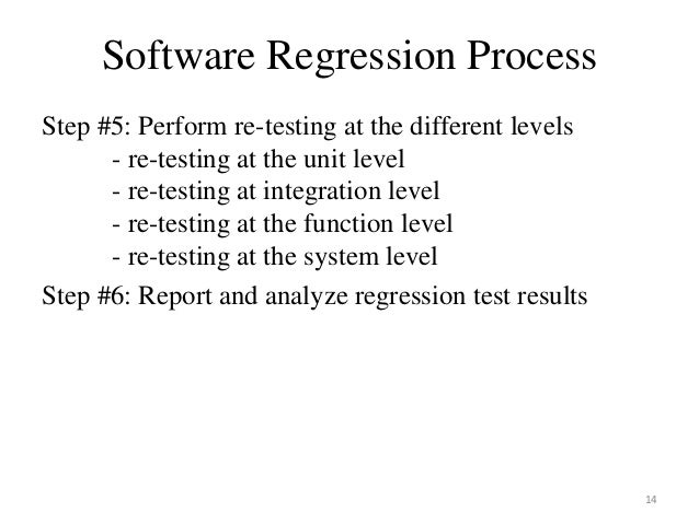 what is regression testing in manual testing